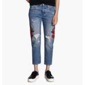 Levi´s dámské jeans 501 Cropped Taper 36190-0005 Custom Blues