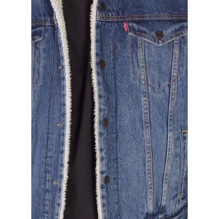 Levi's® pánská jeans bunda Type 3 Sherpa Trucker - Needle Park