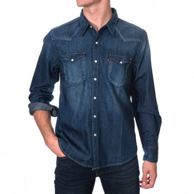 Levi´s pánská košile BARSTOW WESTERN Carbon Dark