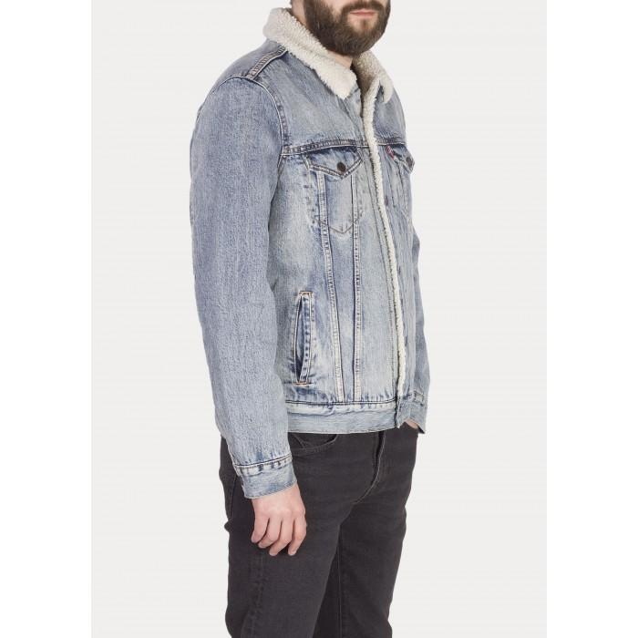 Levi´s pánská jeans bunda Sherpa Trucker Fine Line Sherpa
