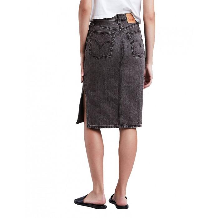 Levi´s dámská džínová sukně SIDE SLIT Skirt Satellite Black