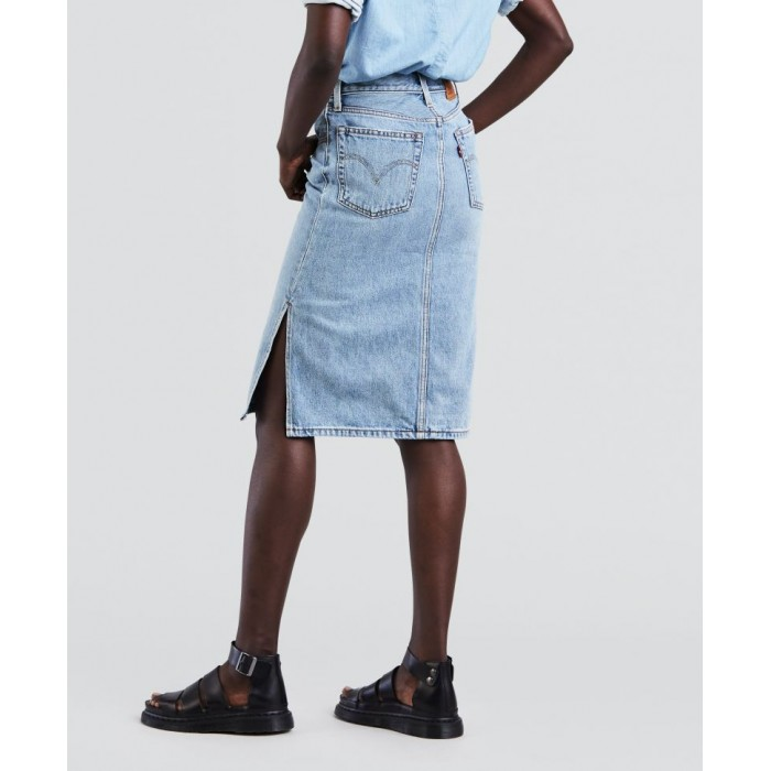 Levi´s dámská džínová sukně SIDE SLIT Blue Waves