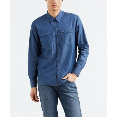 Levi´s pánská džínová košile MODERN BARSTOW WESTERN Indigo Twill Rinse