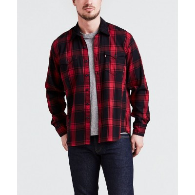 Levi´s pánská košile MODERN BARSTOW WESTERN Badger Crimson