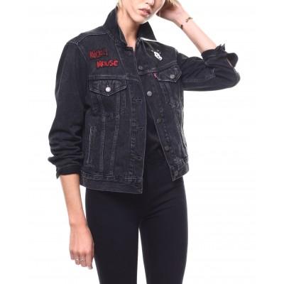 Levi´s dámská jeans bunda EX-BOYFRIEND TRUCKER Mickey Mouse
