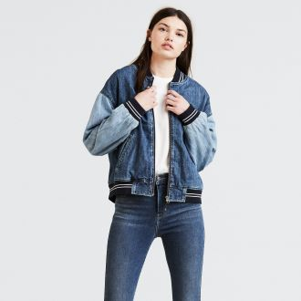 NELLIE DENIM BOMBER