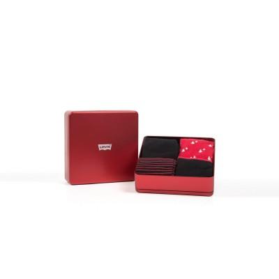 Levi´s ponožky dárkové balení 4 pack Red