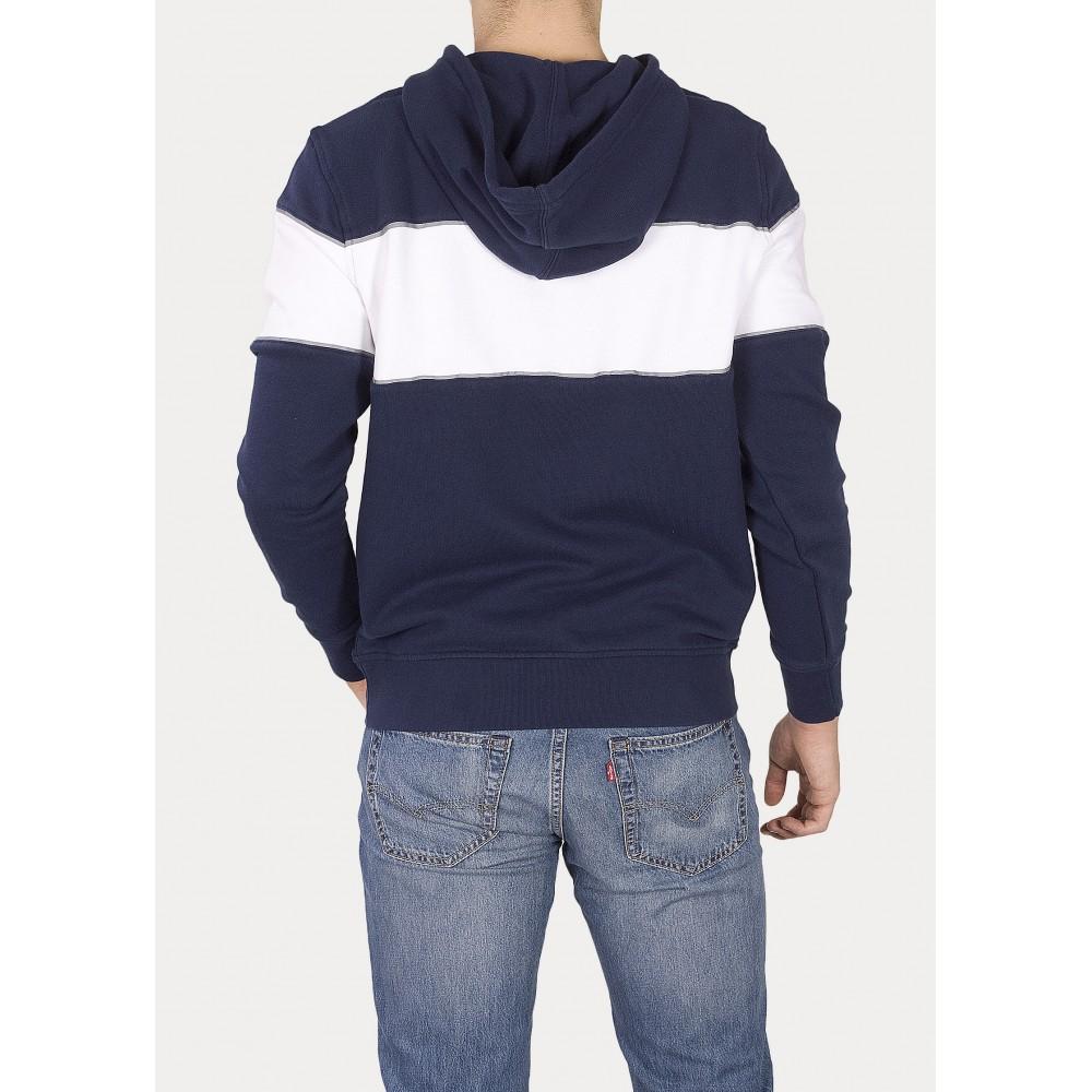 Levi´s pánská mikina REFLECTIVE CB HOODIE 69951-0000 Blue White Reflexive
