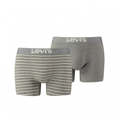 Levi´s pánské boxerky 200SF CREW 2P Middle Grey Melange