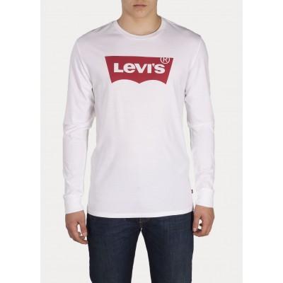 Levi´s pánské triko LS GRAPHIC TEE - B 36015-0010 HM LS Better White