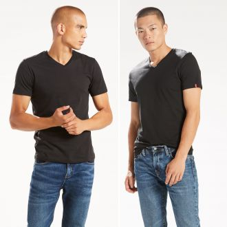 SLIM 2 PACK V NECK TEE