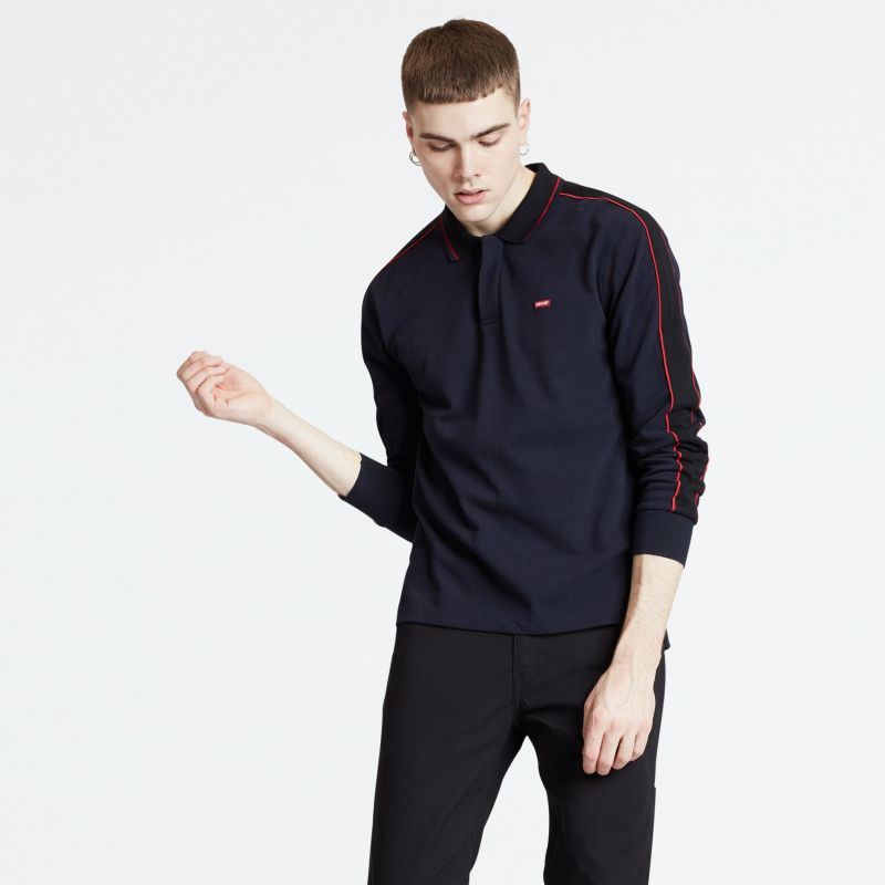 LS PIECED POLO