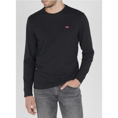 Levis pánské triko s dlouhým rukávem ORIGINAL HM TEE 72848-0009 Black