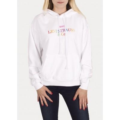 Levi´s dámská mikina Unbasic Hoodie 90´s Text Logo White