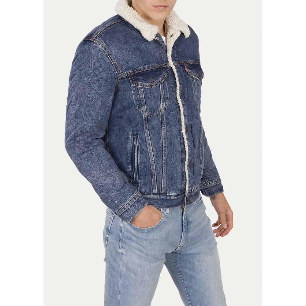 Levi´s pánská jeans bunda TYPE 3 SHERPA TRUCKER 16365-0089 Mayze