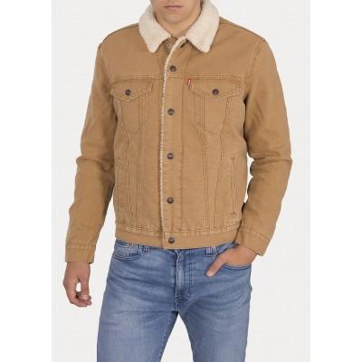 Levi´s pánská jeans bunda TYPE 3 SHERPA TRUCKER 16365-0106 Desert Boots Canvas