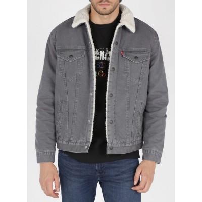 Levi´s pánská zimní bunda TYPE 3 SHERPA TRUCKER 16365-0107 Magnet Canvas
