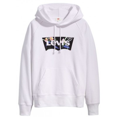 Levi´s dámská mikina Graphic Sport Hoodie 35946-0119 Filled BW T2 White