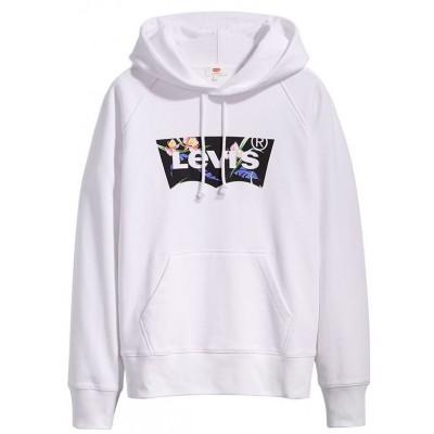 Levi´s dámská mikina Graphic Sport Hoodie 35946-0119 Filled BW T2 White