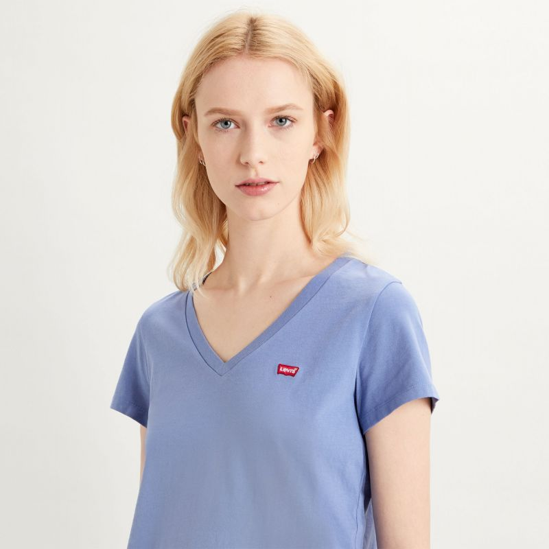 PERFECT VNECK - COLONY BLUE