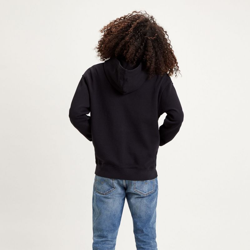 RELAXED T2 GRAPHIC ZIPUP - SERIF RELAXED FIT JET BLACK