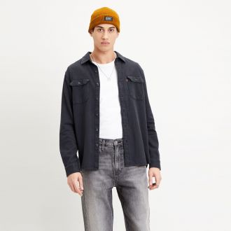 JACKSON WORKER - BLACK FLANNEL DENIM RINSE