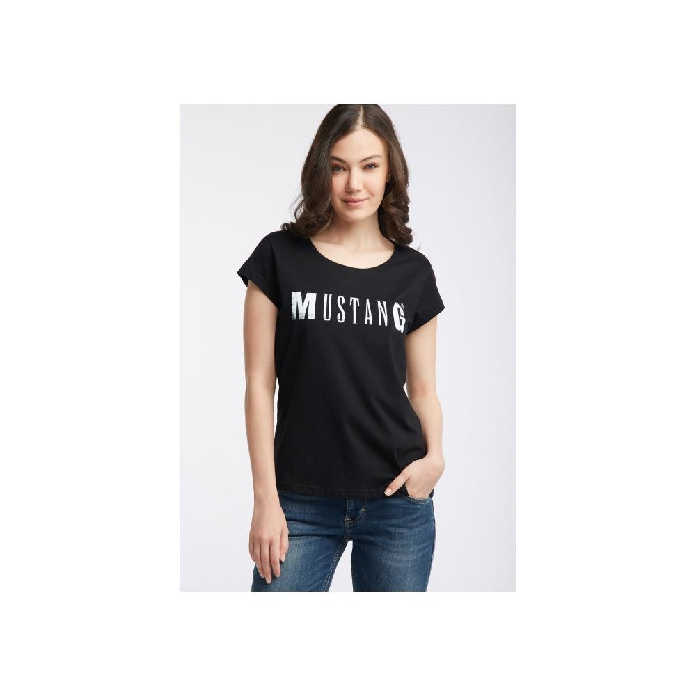 Mustang dámské triko Logo Tee 1005455-4142 Black
