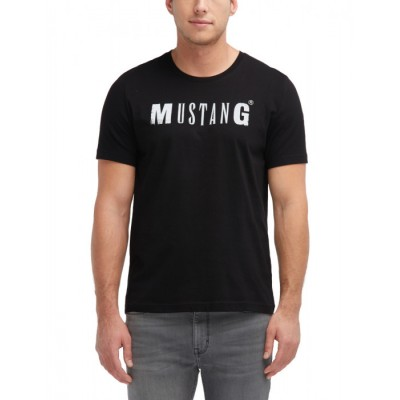 Mustang pánské triko Logo Tee 1005454-4142 Black