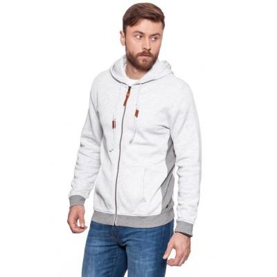 MUSTANG pánský svetr 1006371-4141 Sweatjacket Light Grey Melange