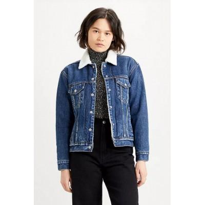 Levi´s dámská jeans bunda s kožíškem 36137-0034 EX BF Sherpa Trucker Rough And Tumble