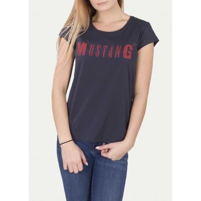 Mustang dámské triko Logo Tee 1005455-4085 Blue Nights