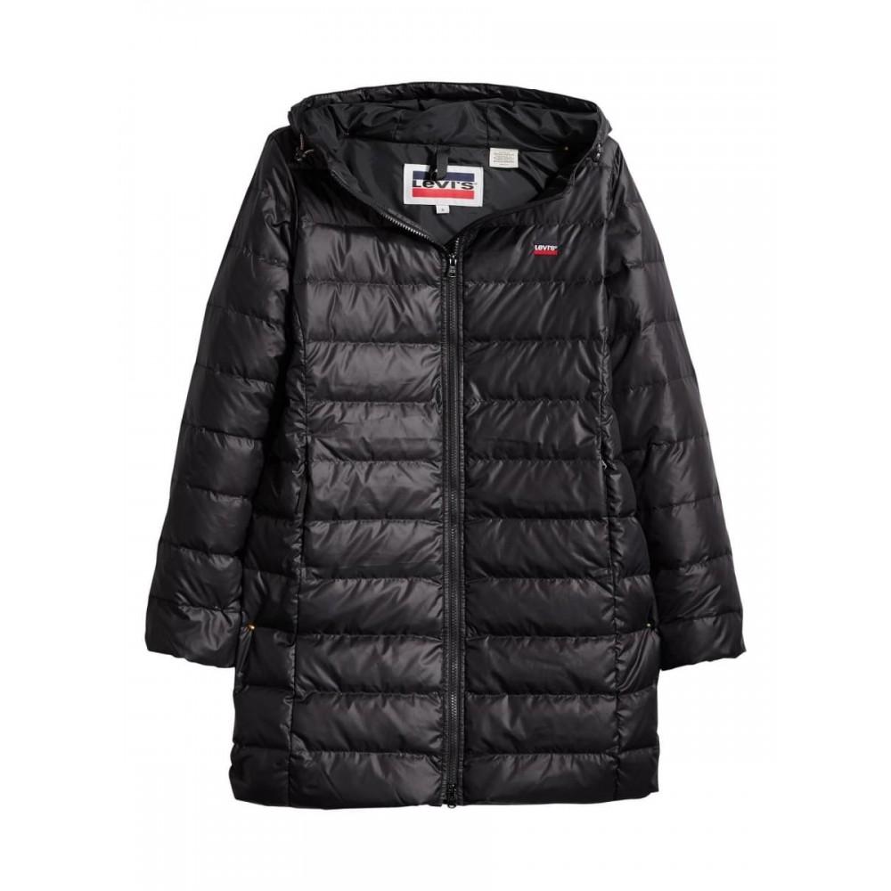 Levi´s dámská zimní bunda 23986-0000 Core Down MId Lenght Puffer Caviar