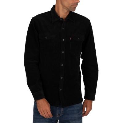 Levi´s® pánská manšestrová košile SLIM Jackson Worker Jet Black 19573-0119