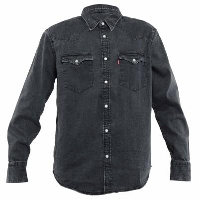 Levi´s® pánská jeans košile Barstow Standard Black Acid