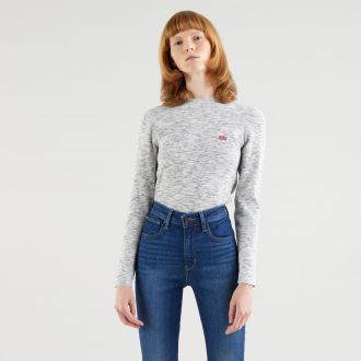 crew rib sweater - thunder space dye