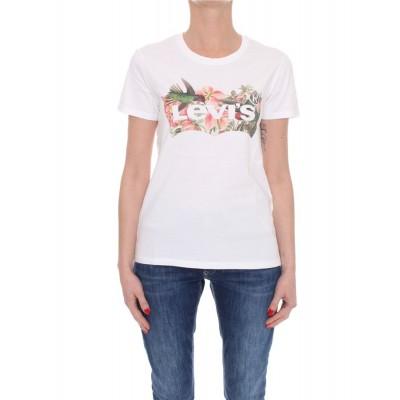 Levi´s® dámské triko Perfect Tee - Batwing Fill Hummingbird Tee White 17369-1265