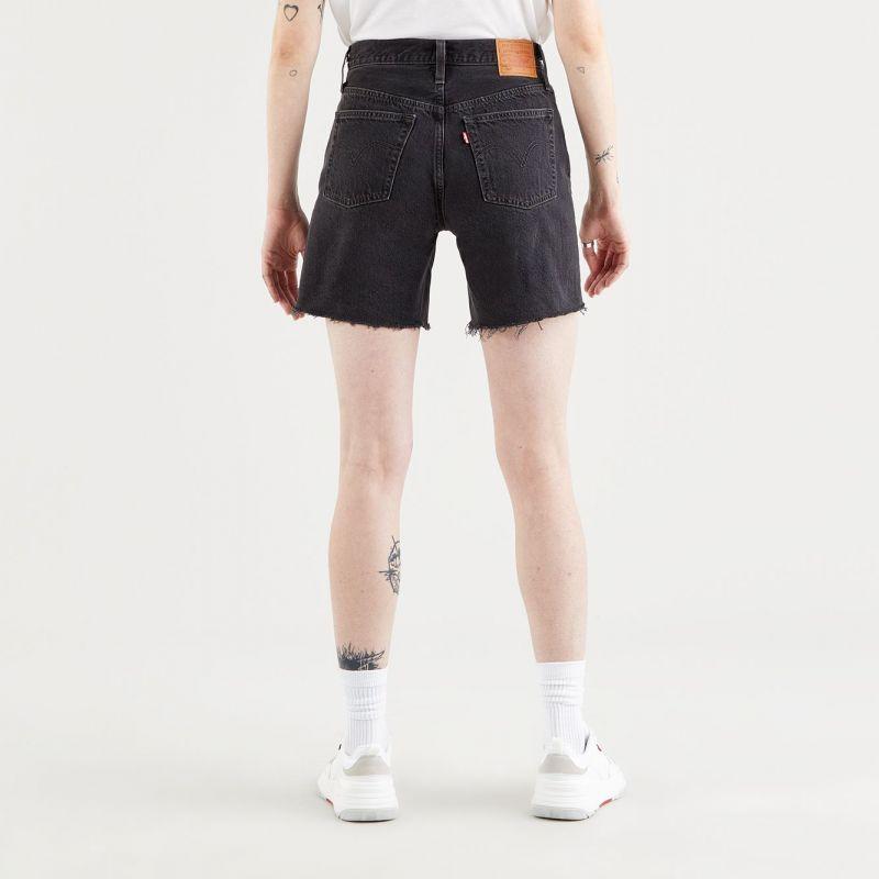 501 mid thigh short - lunar black