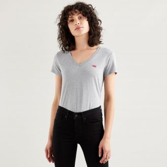perfect vneck - orbit heather gray