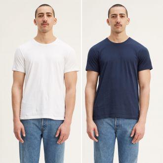 slim 2pk crewneck 1 - 2 pack slim crew dress blues/ white
