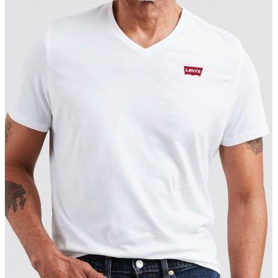 Levi´s pánské triko V výstřih -Original V Neck - White 85641-0000