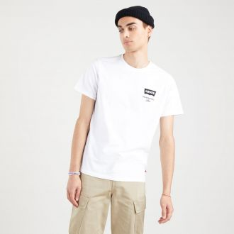 housemark graphic tee - left chest batwing white